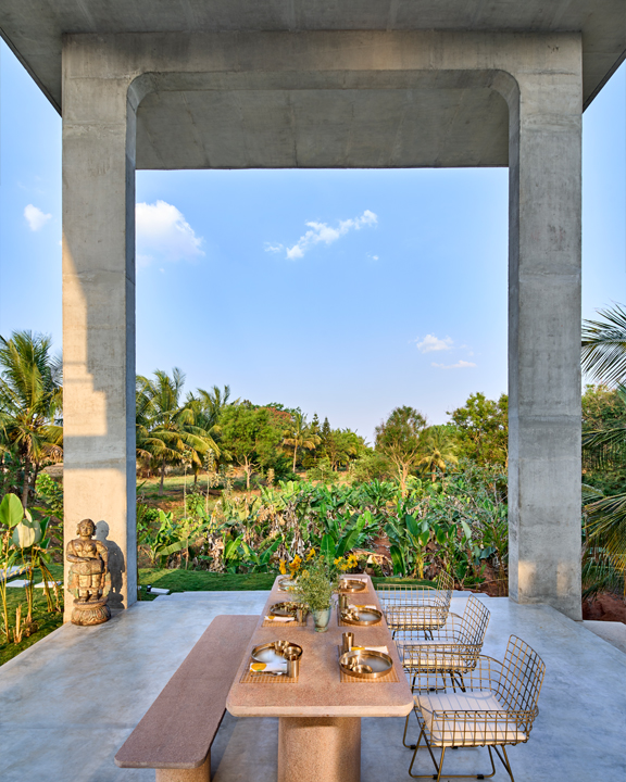 Outdoor Dining Area at the Ksaraah Residence